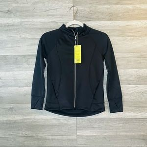 all In Motion Sweater Black Full Zip Athleisure